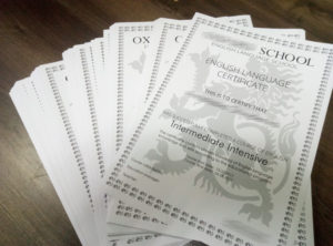 печать сертификатов и дипломов